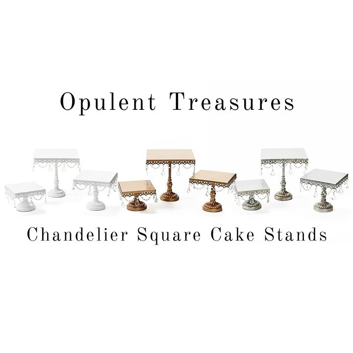 Chandelier Square Cake Stands