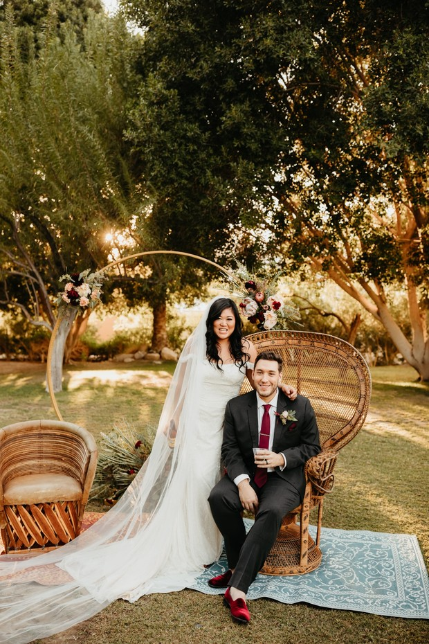 Romantic fall wedding in Palm Springs