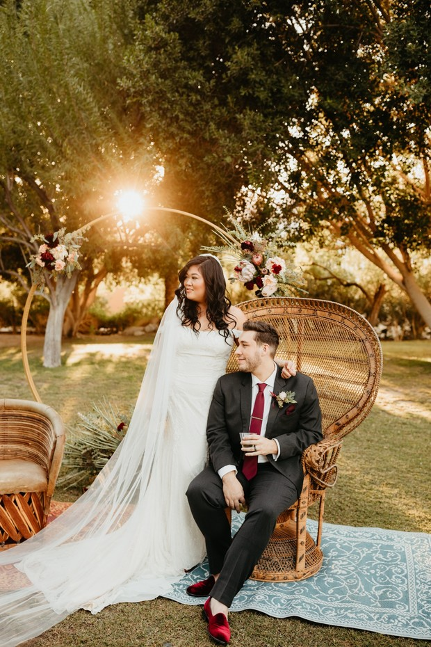 Fall romance wedding in Palm Springs