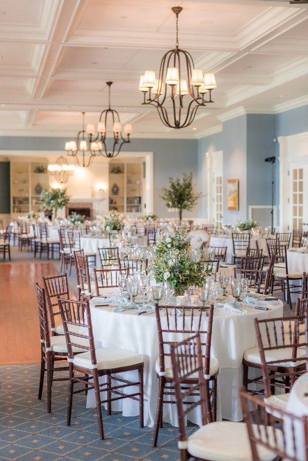 luxury wedding reception at Oyster Harbors Club