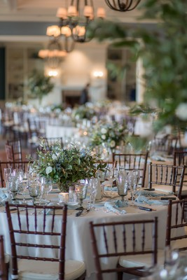 Classic Blue and White Wedding in Cape Cod With Butterflies
