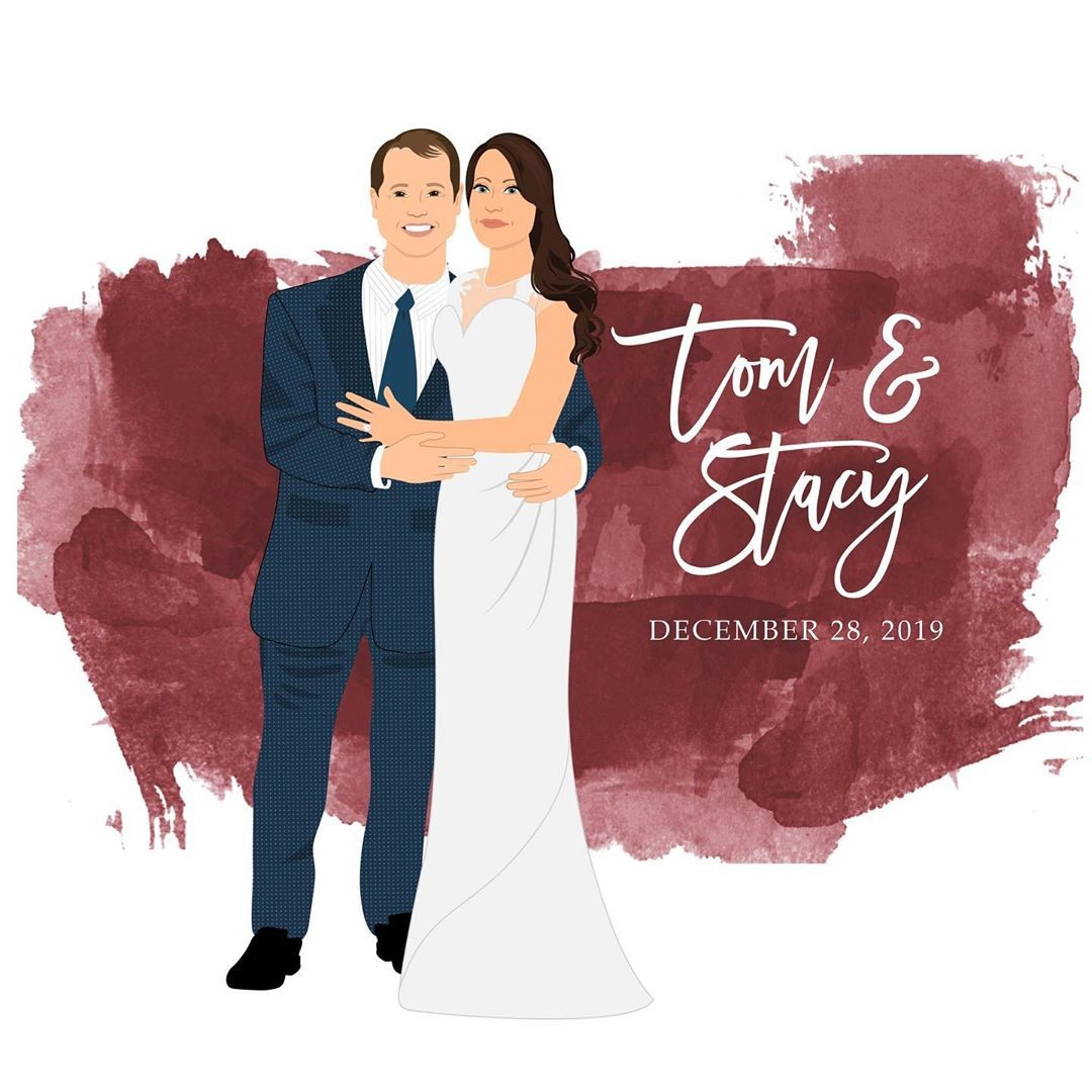 ⁠Wow! ❤️ We are seeing red over this guestbook (in the best way possible) 😉 Tom and Stacy wanted to add a beautiful splash