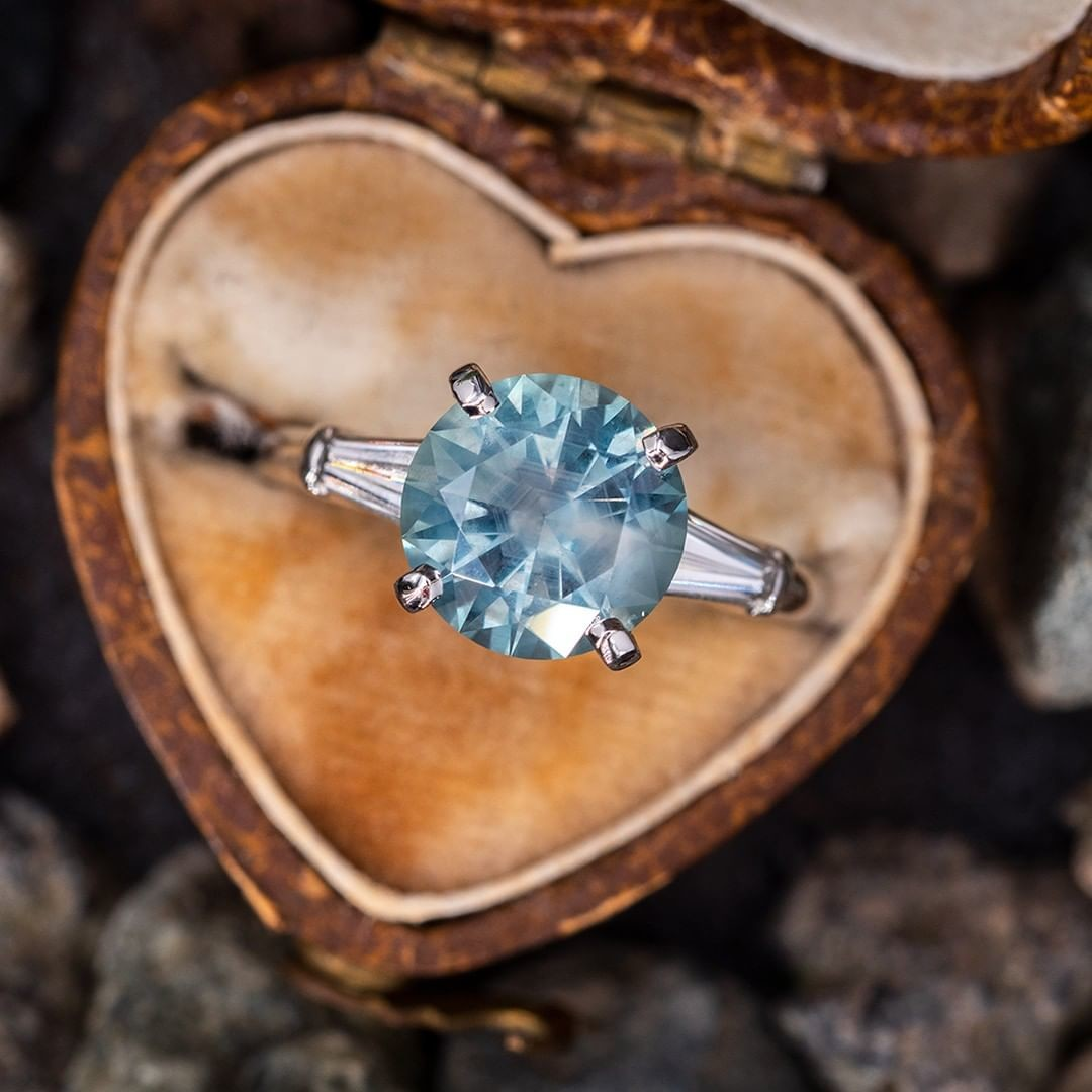 No Heat Montana Sapphire Engagement Ring. Sku AT60322.