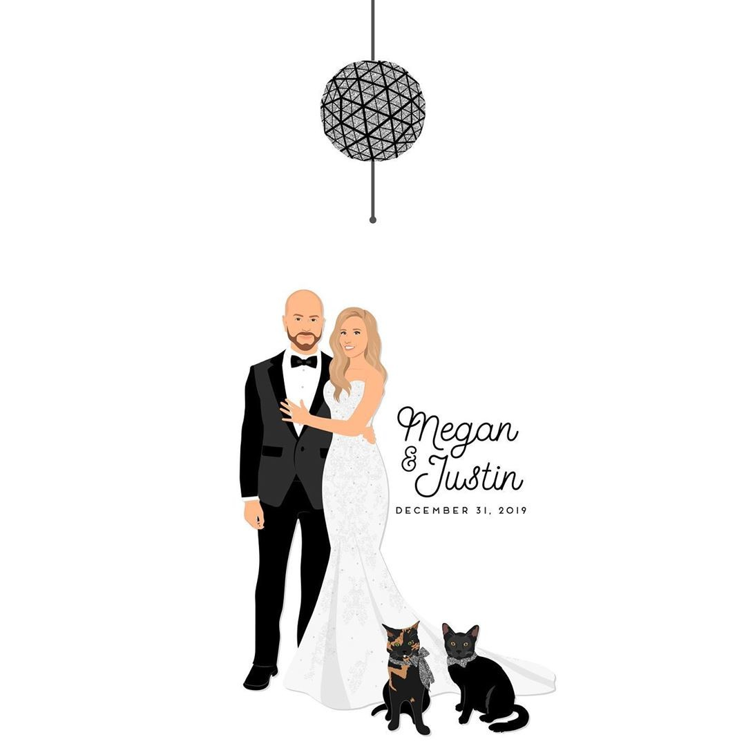 These two lovebirds had a New Years Eve wedding, and we love the idea of ringing in the new year and your new life surrounded by