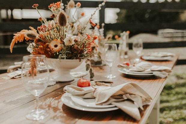 ranch style wedding table