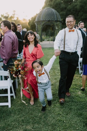 fun and laid back wedding ceremony exit