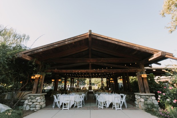 outdoor covered wedding reception