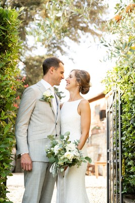 A Wedding Based Around A Tunnel Of Fairy Lights
