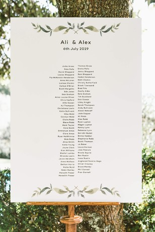 wedding reception seating assignment sign