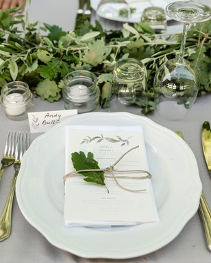 tuscany inspired place setting