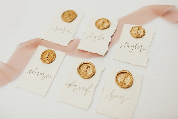 secret garden wedding place cards