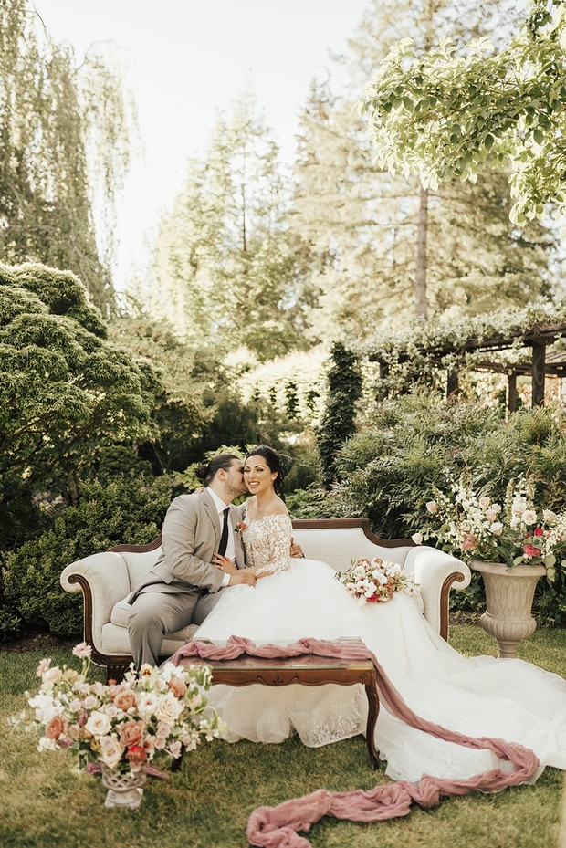 romantic secret garden wedding lounge