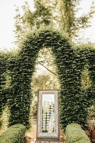 secret garden themed wedding sign