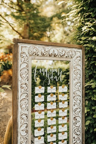 find your seat escort card display