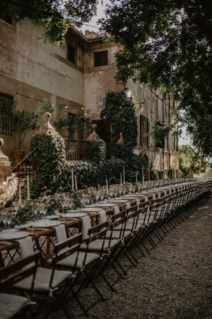 family style wedding reception seating