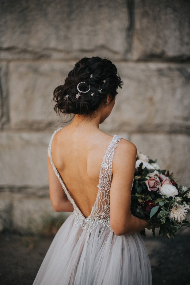 moon and star wedding hair accessories