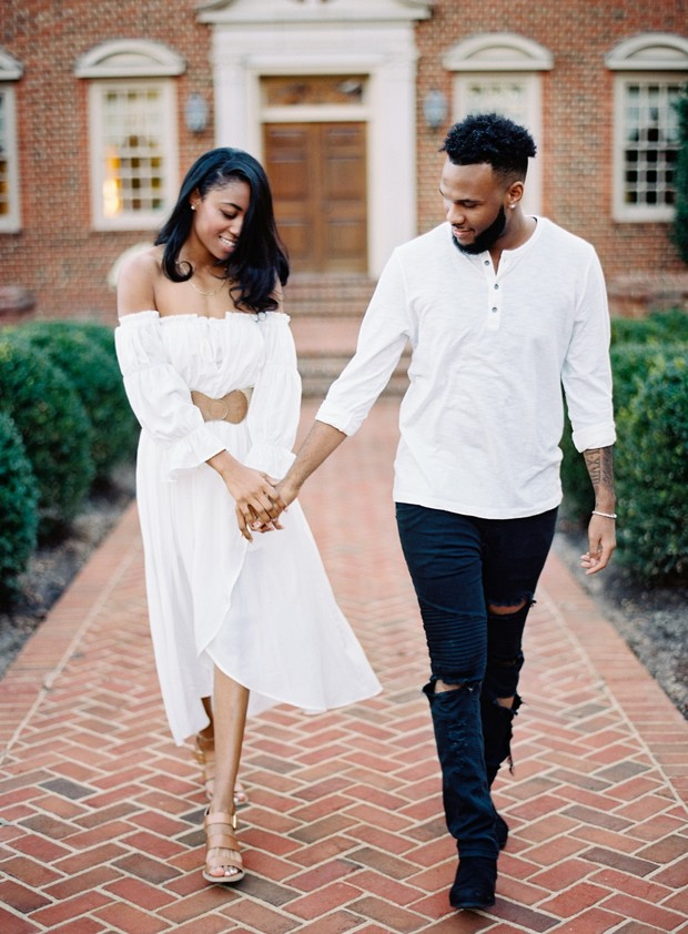 sweet and laid back engagement couple
