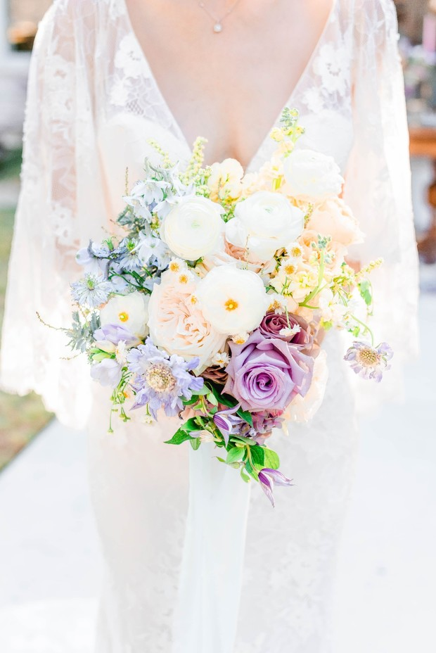 colorblock wedding bouquet