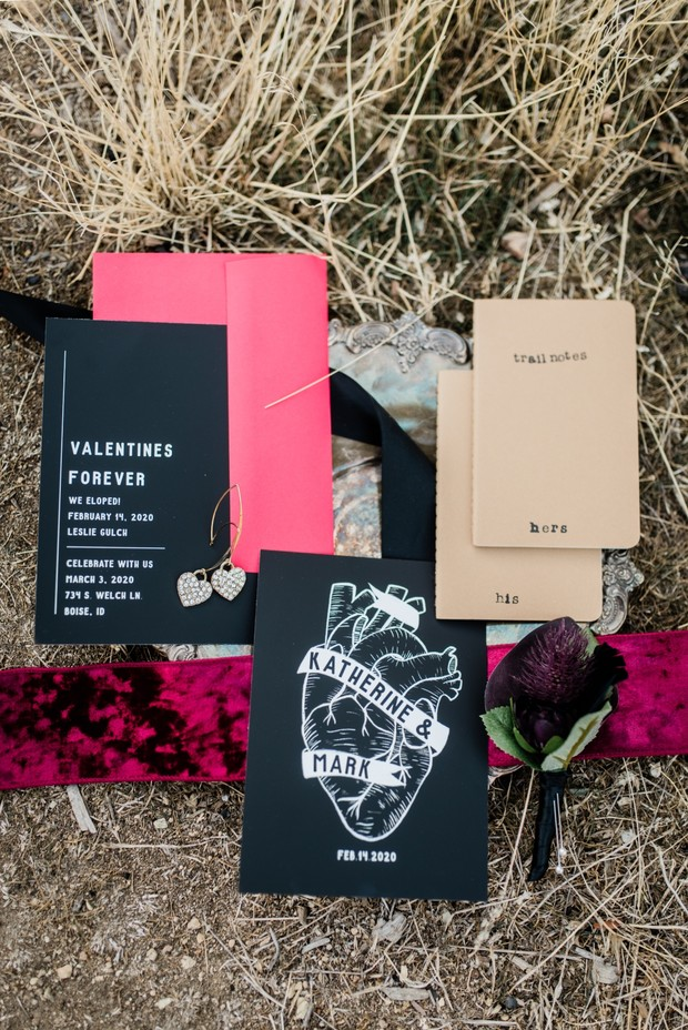 elopement invitation suite