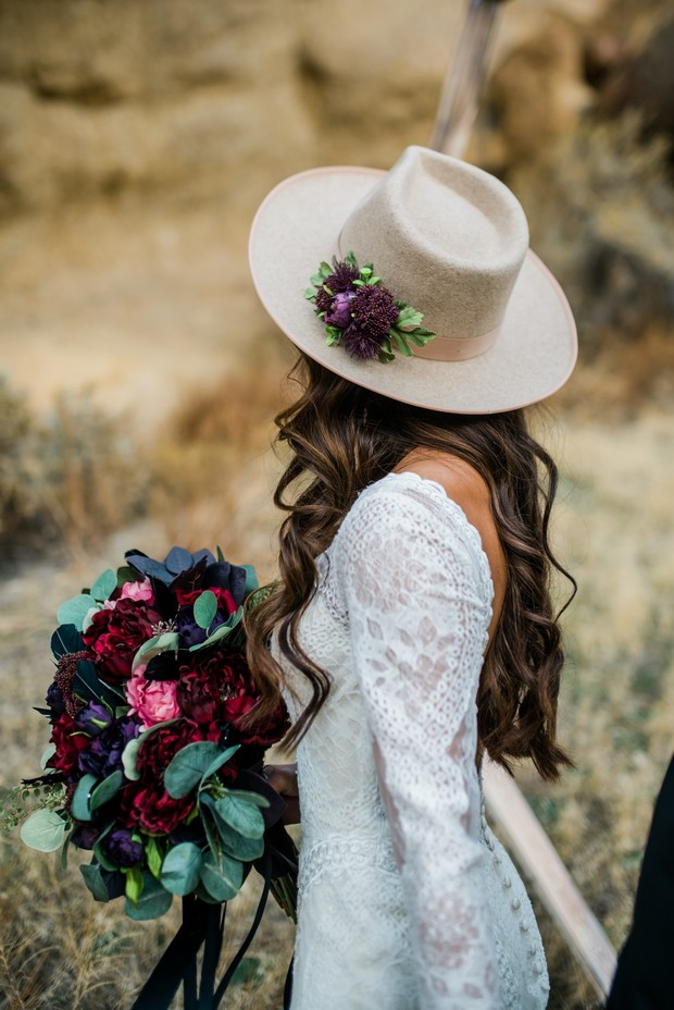 brimmed bridal hat