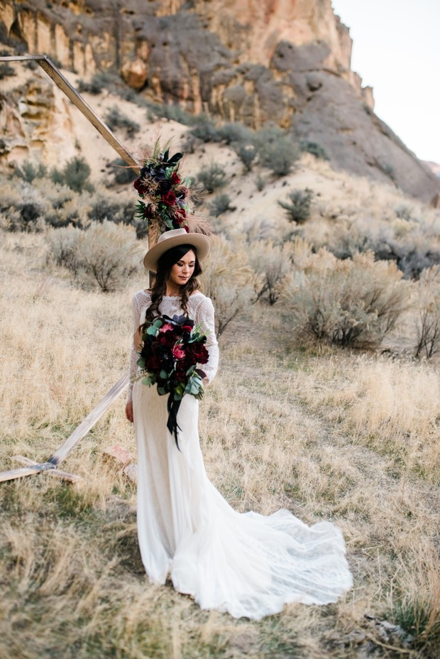 adventurous desert bridal look