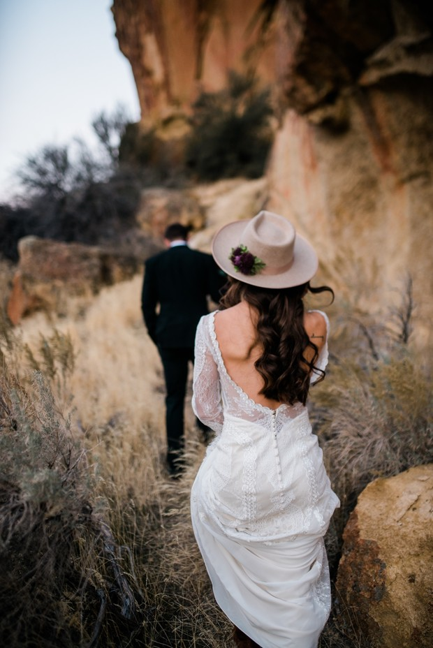 adventurous bride and groom