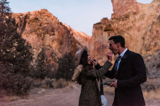 desert elopement idea
