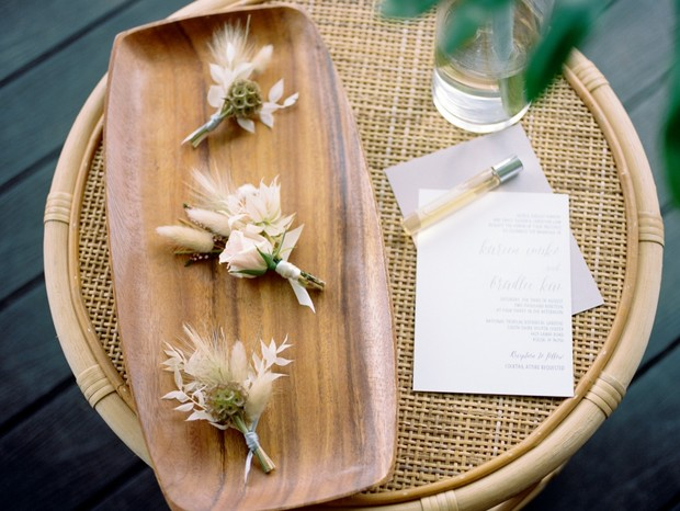 dried floral boutonnieres