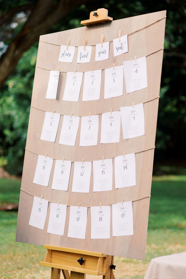 seating assignment display