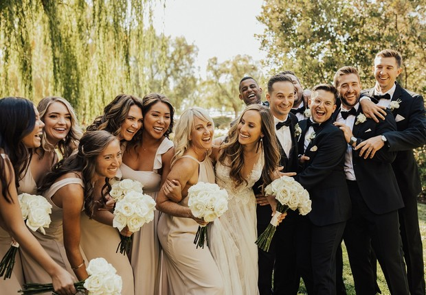 chic wedding party style
