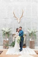 Protea Filled Industrial Wedding