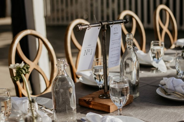 modern and chic wedding table decor