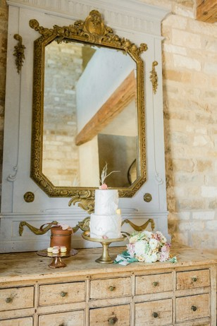 vintage french wedding cake table