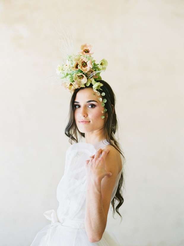 floral fascinator for your bridal look