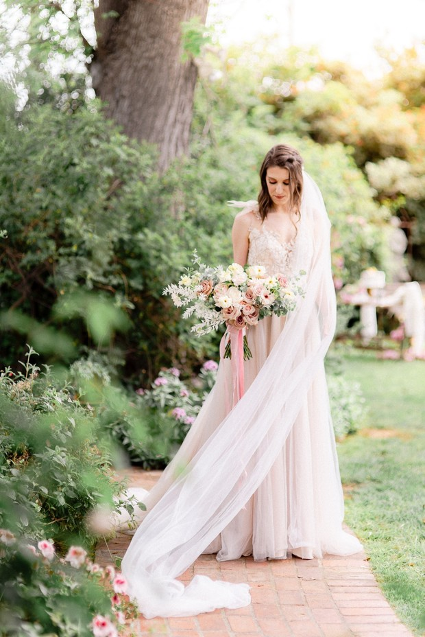 romantic spring or summer bridal look