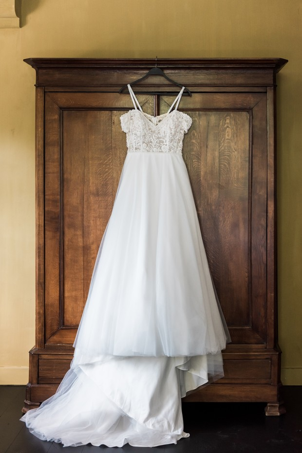 wedding dress by Modern Romance Bridal