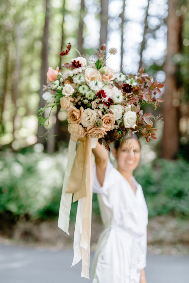 A Magical Forest Wedding Day In Blush And Burgundy