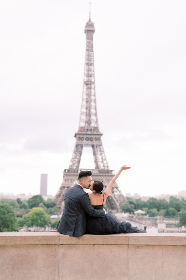 Fashion Forward Engagement Shoot In Paris