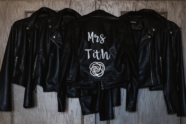custom bride jacket