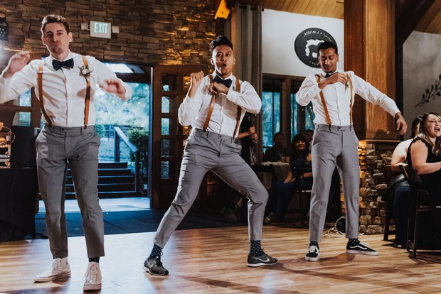 groomsmen dance off