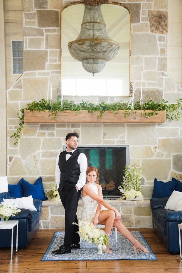 blue and white wedding inspiration