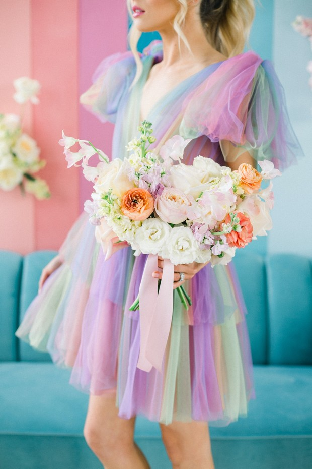 pastel wedding bouquet