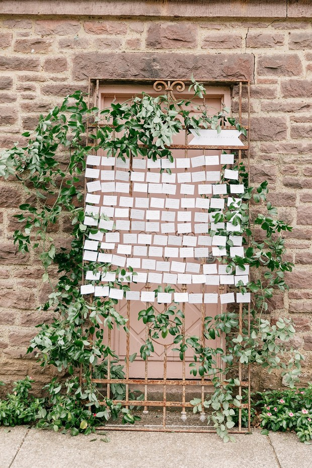 rustic chic seating chart