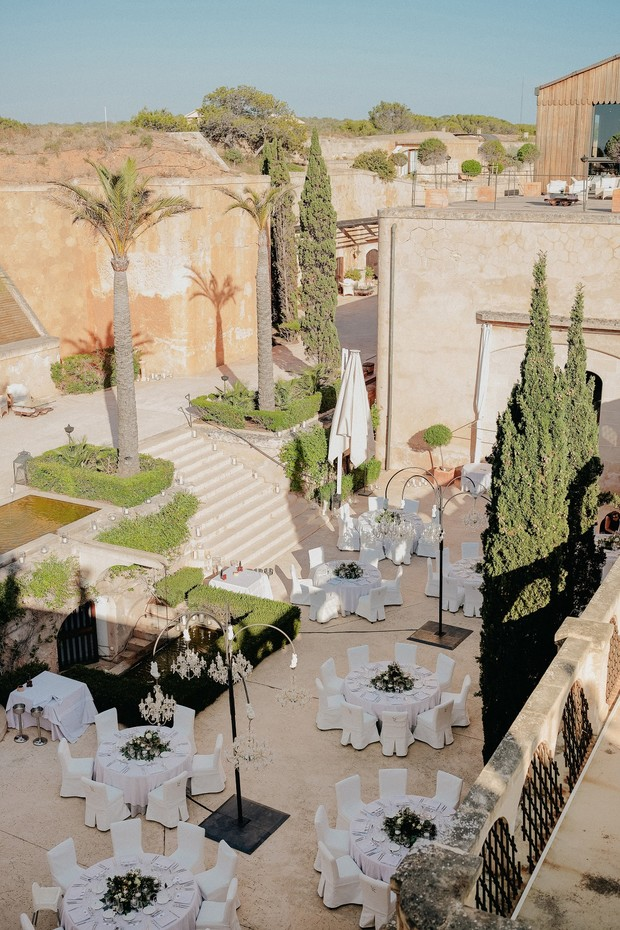 outdoor reception in Mallorca