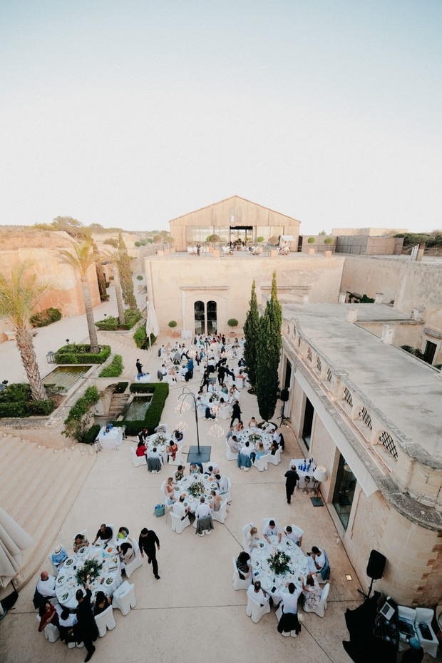 outdoor wedding reception in Mallorca