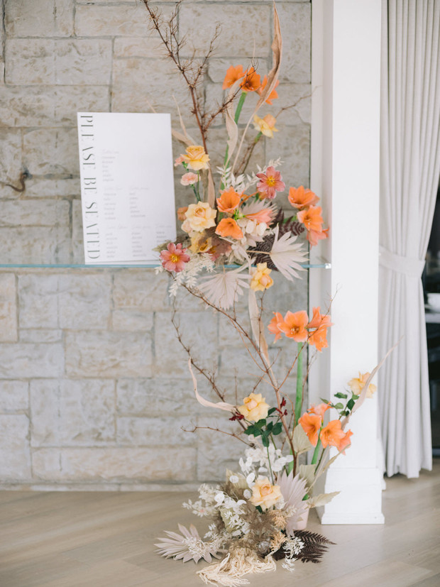 wedding seating chart display