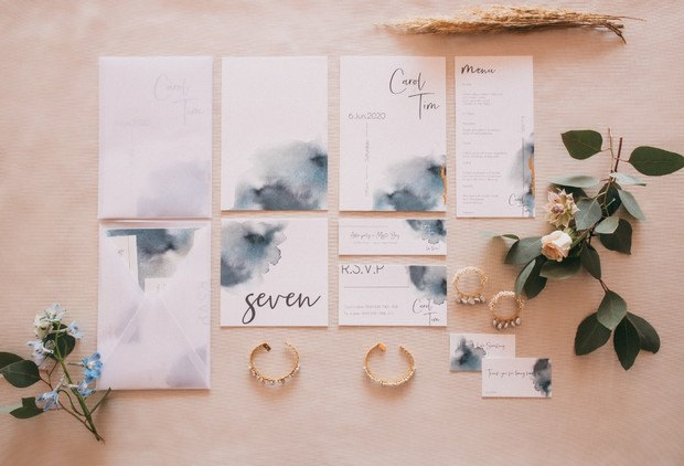 ocean inspired invitation suite