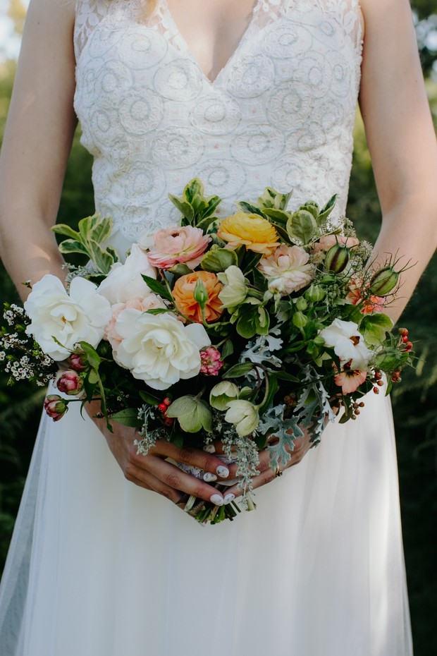 garden flower wedding bouquet