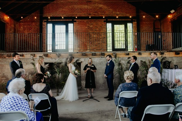 Wedding ceremony at Hutton Brickyards