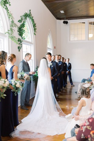 wedding ceremony in an old school house
